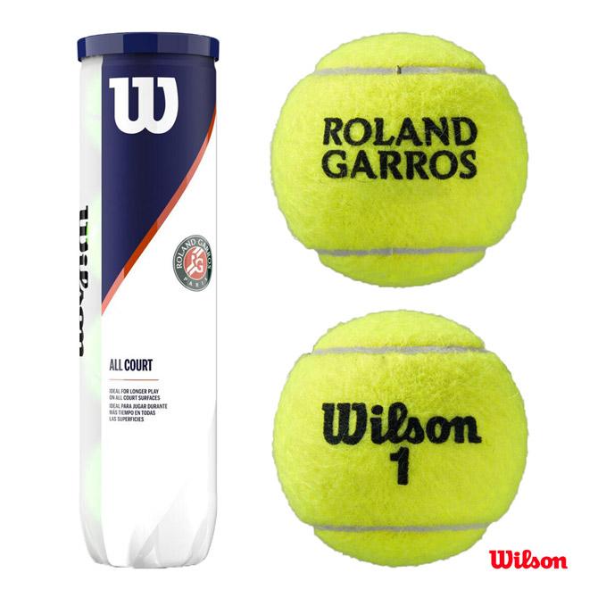 購買 あす楽 ウイルソン 直営ストア Wilson テニスボール ROLAND GARROS ALL 4球 WRT116400 COURT Ball 4 1缶