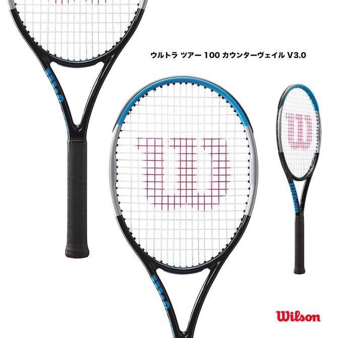 【応援クーポン10%OFF対象商品:9月20日まで】ウイルソン Wilson テニスラケット ウルトラ ツアー 100 カウンターヴェイル V3.0 ULTRA TOUR 100 CV V3.0 WR038511