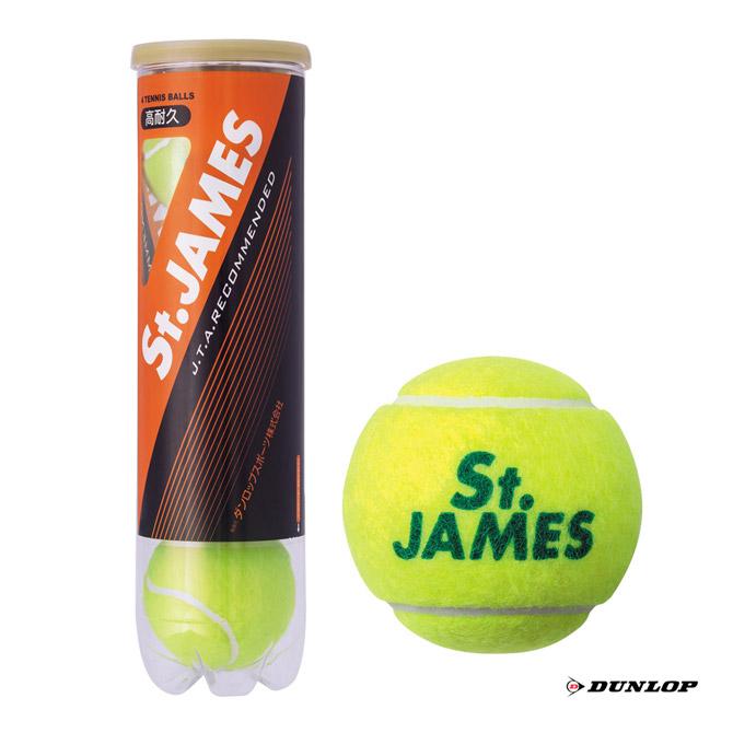 あす楽 ダンロップ DUNLOP テニスボール NEW 70%OFFアウトレット St.JAMES 1缶 4球入 STJAMESE4DQZ セントジェームス