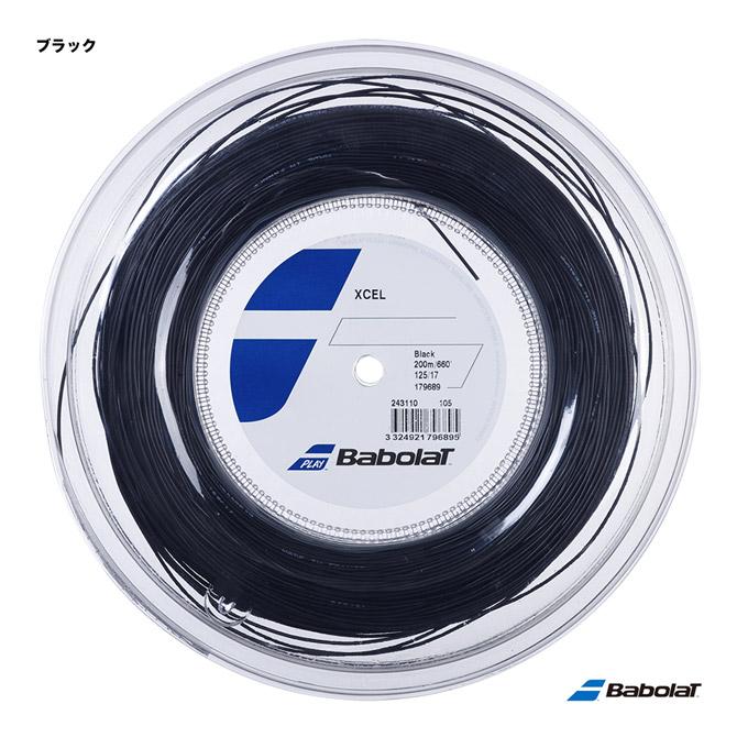 【応援クーポン10%OFF対象商品:9月20日まで】バボラ BabolaT テニスガット ロール エクセル(Xcel) 125 ブラック 243110(125bk)