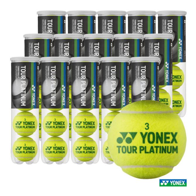 あす楽 ヨネックス YONEX テニスボール 卓越 TOUR PLATINUM 1箱 TB-TPL4 60球 4球入 15缶 ギフト プレゼント ご褒美 ツアープラチナム