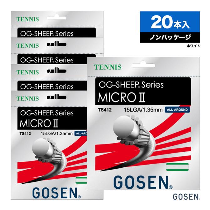 ゴーセン(GOSEN) ボックスガット オージー・シープ(OG-SHEEP) ミクロ2(MICRO2) 15L 135 ホワイト TS412 単張りガット(20本入)