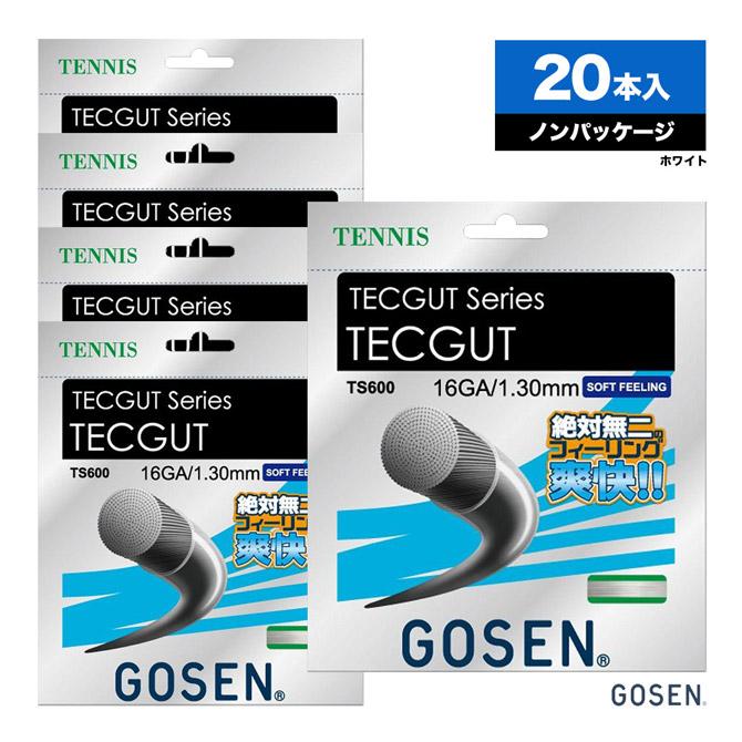 ゴーセン(GOSEN) ボックスガット テックガット(TECGUT) 16 130 ホワイト TS600 単張りガット(20本入)