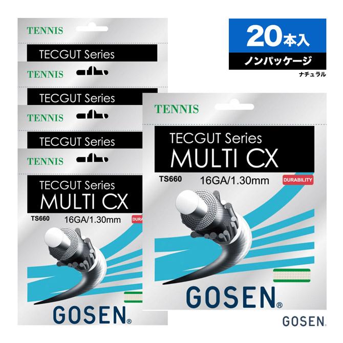 ゴーセン(GOSEN) ボックスガット テックガット(TECGUT) マルチCX(MULTI CX) 16 130 ナチュラル 単張りガット(20本入) TS660