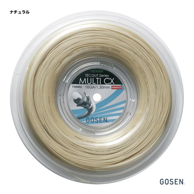 ゴーセン(GOSEN) テニスガット ロール テックガット(TECGUT) マルチ CX(MULTI CX) 16 130 ナチュラル TS6602NA