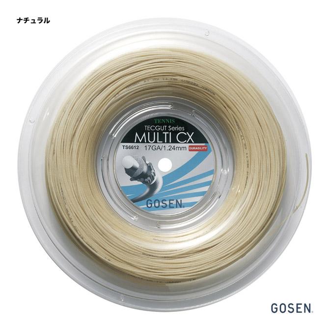 ゴーセン(GOSEN) テニスガット ロール テックガット(TECGUT) マルチ CX(MULTI CX) 17 124 ナチュラル TS6612NA