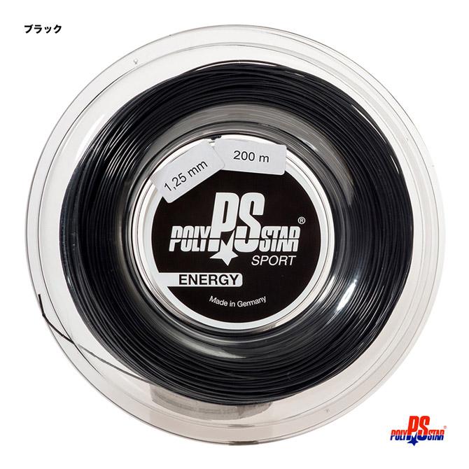 ポリスター(POLY STAR) テニスガット ロール エナジー(ENERGY) 125 ブラック energy125b