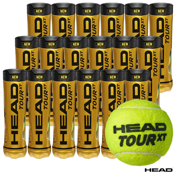 【応援クーポン10%OFF対象商品:9月20日まで】ヘッド HEAD テニスボール HEAD TOUR XT(ヘッド ツアー エックスティー) 4球入 1箱(18缶/72球) 570824