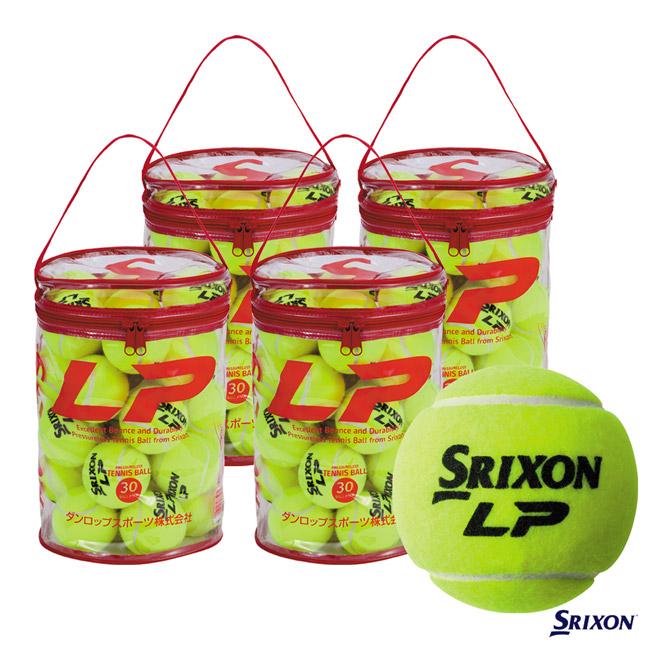スリクソン(SRIXON) テニスボール LP エルピー(ノンプレッシャー)30球入 1箱(4袋/120球入)