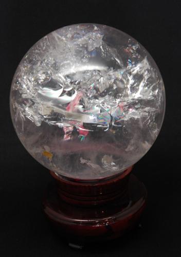 レインボー水晶玉(直径115ミリ)