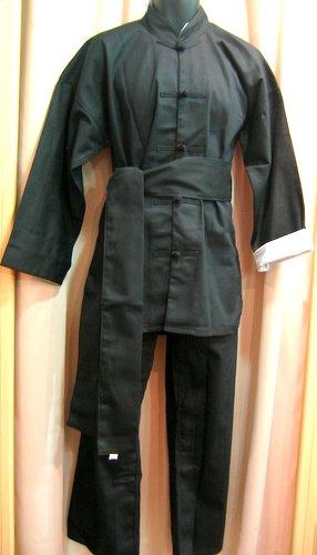 台湾製高級厚手カンフースーツ(黒色)