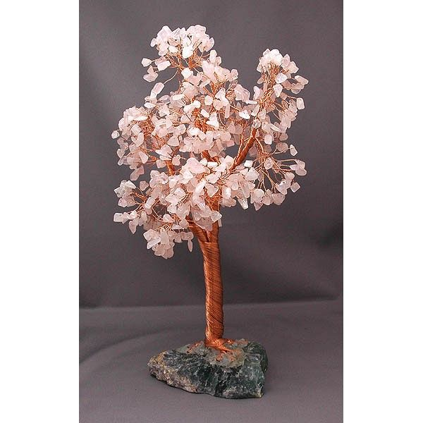 愛情運を願う幸福の樹(桃花水晶 ローズクォーツ 特大)