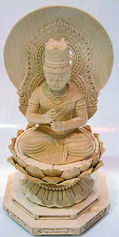 【仏教】桧(ひのき)製二寸大日如来仏像
