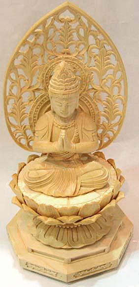 【仏教】桧(ひのき)製二寸普賢菩薩仏像