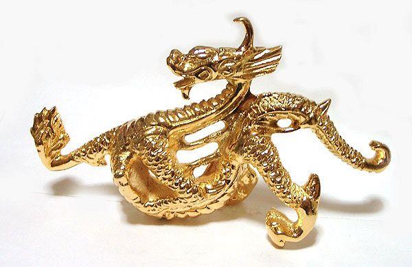【風水龍】開運金龍 銅製(真鍮)金メッキ