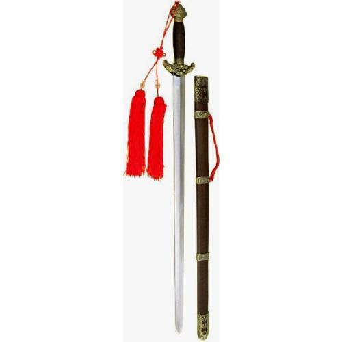 美術剣・亜鉛合金製製高級宝剣「乾隆剣」ブロンズ金具