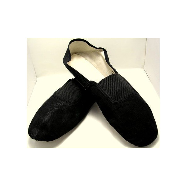 功夫和太极鞋 (麂皮绒、 底布鞋)-黑色