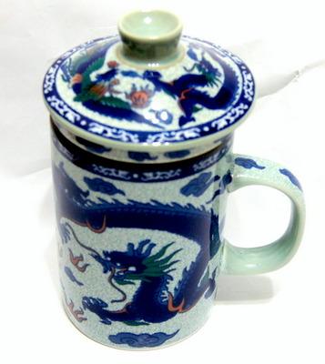 """输液器茶杯""""龙凤"""""""
