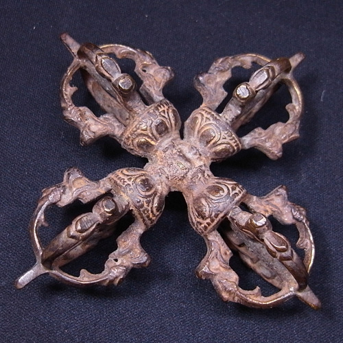 ダブルバジュラ 羯磨 十字五鈷杵 銅製