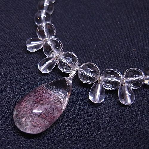 ガーデンクォーツペンダント 水晶ネックレス
