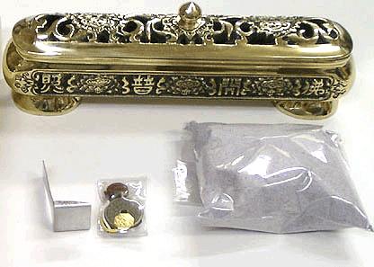 風水 除障香用の香炉 銅製 真鍮