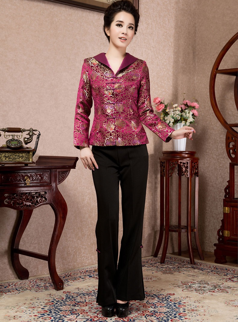 fd0979c90763bf The whole fabric of traditional Chinese embroidery. Color: jade green, big  red, purple. Size: L, XL * You can request size M and XXL over imported  from ...