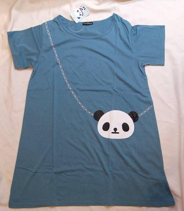 往復送料無料 1着ならメール便発送OK パンダ 安心の実績 高価 買取 強化中 チュニック Tシャツ 半袖 レディース TPA006-1A グリーン