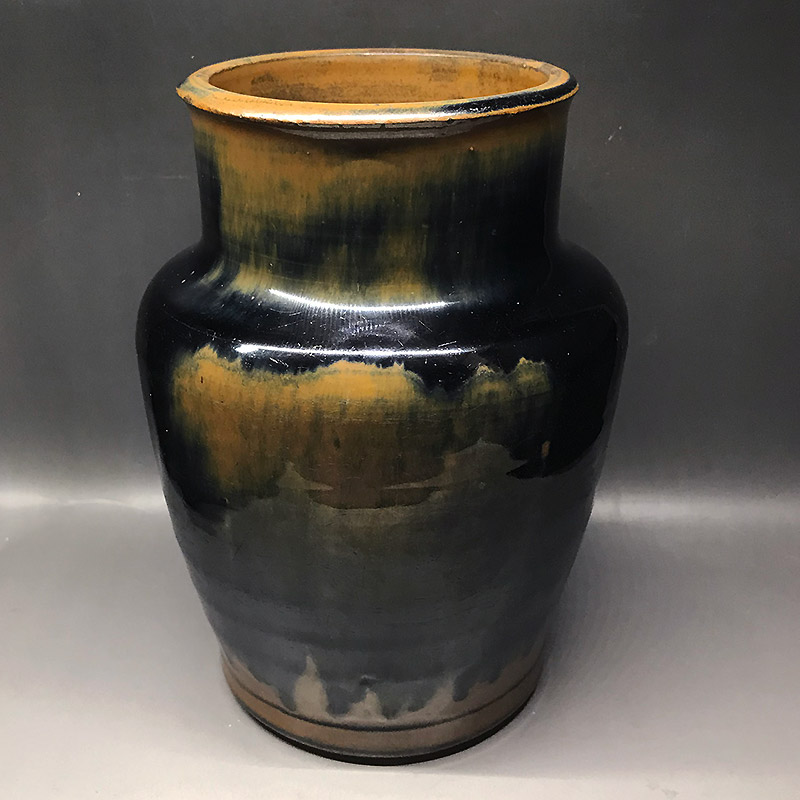 明代河南天目褐斑壺 ko200402a02