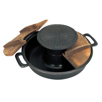 焼きしゃぶ鍋 30cm アルミ(フッ素加工) 五進【業務用】【送料無料】【プロ用】
