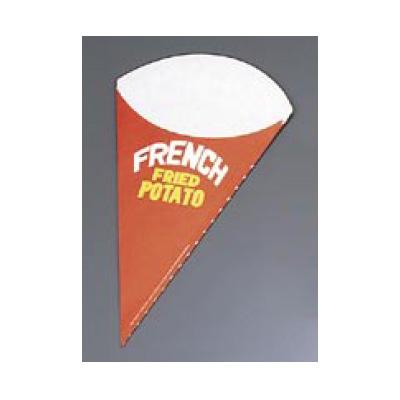 使い捨て 三角ポテト袋 01452 大 (3000枚入) 紙製 【 業務用 】【送料無料】