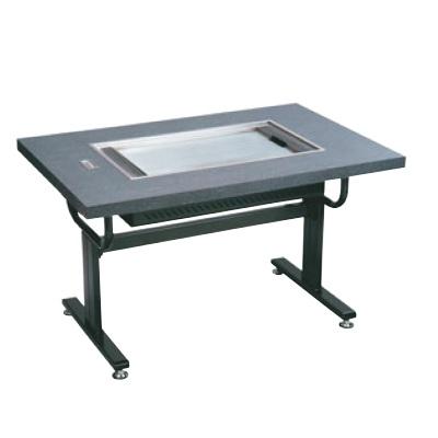 お好み焼き用テーブル お好み焼ロースターちょっと熱くナイス洋卓 HHN-6036D 石目グレー 13A HHN-6036D 幅1200 奥行800 高さ700/業務用/新品/送料無料 /テンポス