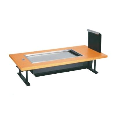 お好み焼き用テーブル お好み焼ロースター 熱くナイス 和卓 SOC-8040ED 木目ベージュ LP SOC-8040ED 幅1500 奥行800 高さ350/業務用/新品/小物送料対象商品