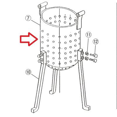 フードプロセッサー 【EBM 鉄 ギョーザ絞り器用 (7)絞り容器】 EBM 【業務用】【送料無料】【プロ用】 /テンポス