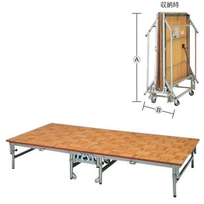 ステージ ポータブルステージ NPS-200 NPS-200 幅2400 奥行1200 高さ200 収納時:(A)1,300×(B)540/業務用/新品/小物送料対象商品