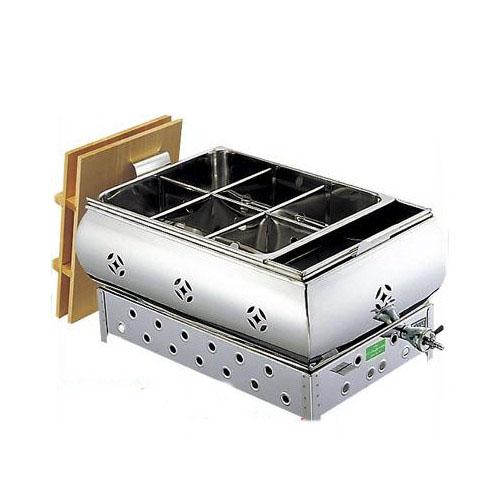 EBM ガス式おでん鍋 湯煎式 マッチ点火式 尺2 4ッ仕切 都市ガス(13A)【業務用】【送料無料】【プロ用】 /テンポス