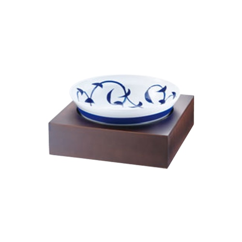 和鉢e-チェーフィング(ブラウンスタンド+和鉢35cm)粉引唐草 PS-15808 幅370×奥行370×高さ165(mm)/業務用/新品/送料無料 /テンポス