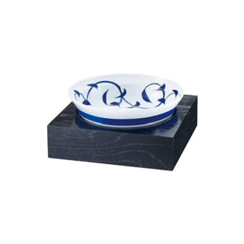 和鉢e-チェーフィング(黒漆スタンド+和鉢35cm)粉引唐草 PS-15708 幅370×奥行370×高さ165(mm)/業務用/新品/送料無料 /テンポス