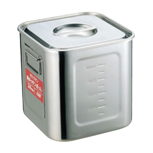 EBM モリブデン 角型キッチンポット 目盛付 24cm/業務用/新品/小物送料対象商品