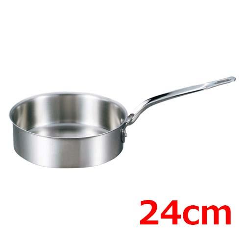 EBM ビストロ 三層クラッド 浅型片手鍋 24cm 蓋無 /業務用/新品 /テンポス