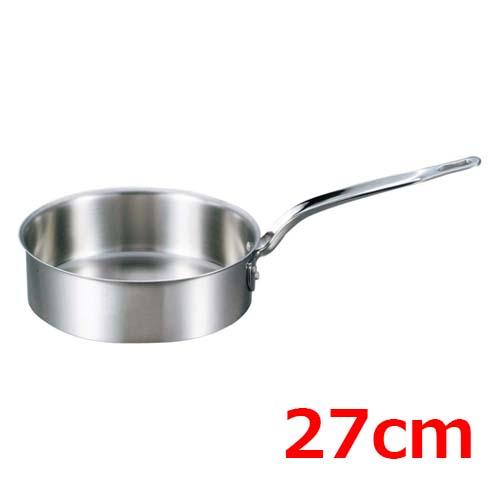 EBM ビストロ 三層クラッド 浅型片手鍋 27cm 蓋無 /業務用/新品 /テンポス