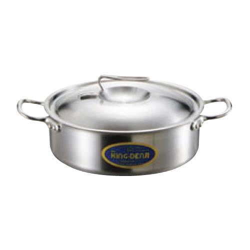 ニューキングデンジ 外輪鍋(目盛付)24cm 高さ80(mm)/業務用/新品 /テンポス