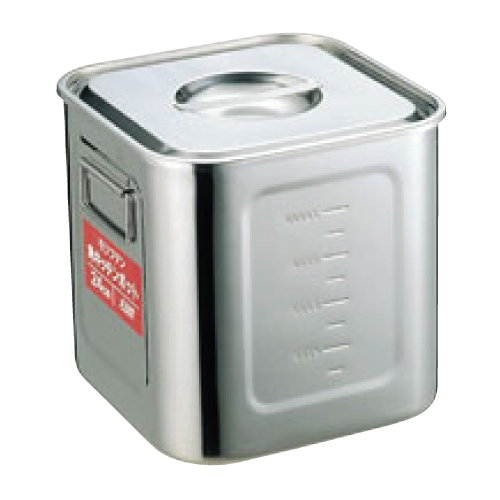 EBM モリブデン 角型キッチンポット 目盛付 33cm/業務用/新品/小物送料対象商品