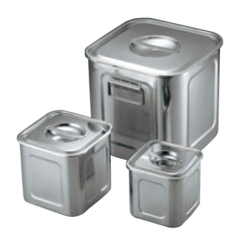 UK 18-8 角型 キッチンポット 25.5cm 手付 蓋無/業務用/新品/小物送料対象商品
