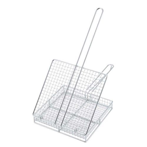 EBM 炭火やきとりカゴ(蓋付)(宮崎地鶏焼きアミ) 幅250×奥行240×高さ55(mm)/業務用/新品/小物送料対象商品