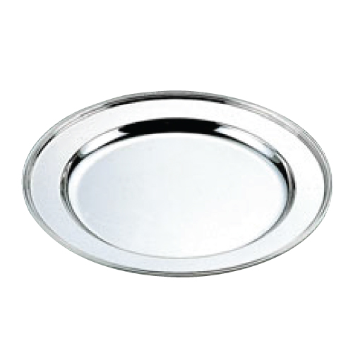 H 洋白 丸肉皿 20インチ 二種メッキ/業務用/新品/小物送料対象商品