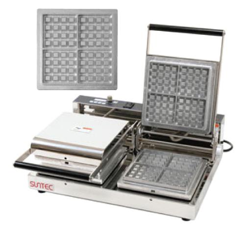 マルチベーカー MAX-2 ベルギーワッフル正角型4個取 小 MAX-2-BWS0402 幅540×奥行455×高さ195(mm)/業務用/新品/送料無料