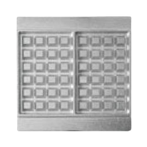 マルチベーカー MAX用プレート ベルギーワッフル長角型2個取 2枚組 BWS0201 /業務用/新品/送料無料