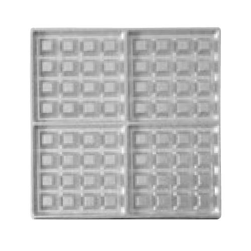 マルチベーカー MAX用プレート ベルギーワッフル正角型4個取 大 2枚組 BWS0403 /業務用/新品/小物送料対象商品