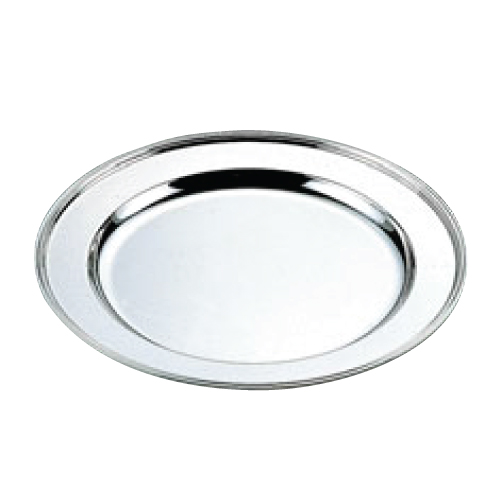 H 洋白 丸肉皿 28インチ 二種メッキ /業務用/新品/小物送料対象商品