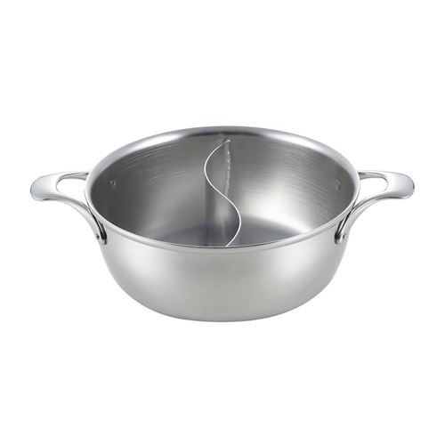 ロイヤルクラデックス ステン しゃぶしゃぶ鍋(中仕切付)CQCW-270SN 幅286(mm)/業務用食器/新品 /テンポス